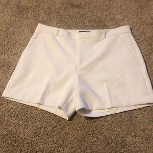 Banana Republic white shorts.